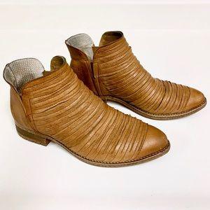 ANTHROPOLOGIE Kanna Leather Ankle Brn Boots SZ 7-8